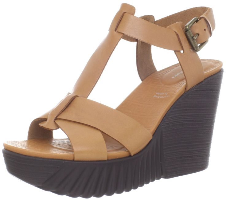 Rockport Women's Kinsley T Strap Wedge Sandal,Warm Oak,8.5 M US. adidas adiPRENE cushioning. PU outsole offers durability and shock absorbent cushioning to help reduce foot fatigue. Built for comfort with modern style, this is a casual classic.