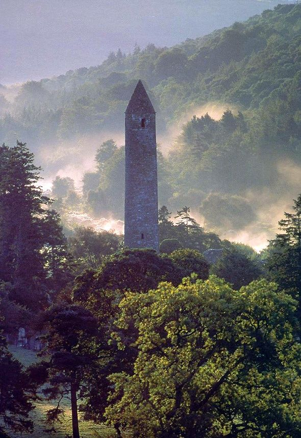 Glendalough, Co. Wicklow Ireland ... stompin' grounds of St. Kevin the Hermit.  Photo ... http://www.irishculturecollege.org/