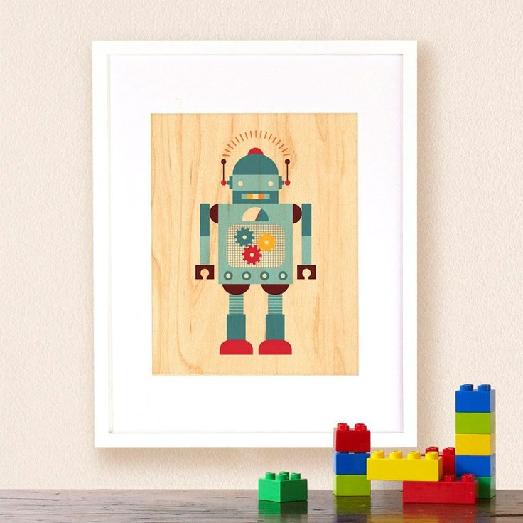 15 best images about theme make believe toys decor for Robot room decor