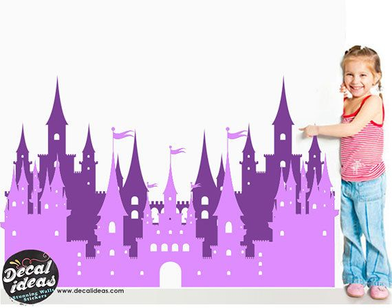 Princess Castle Wall Decal Castle wall Decal by StunningWalls