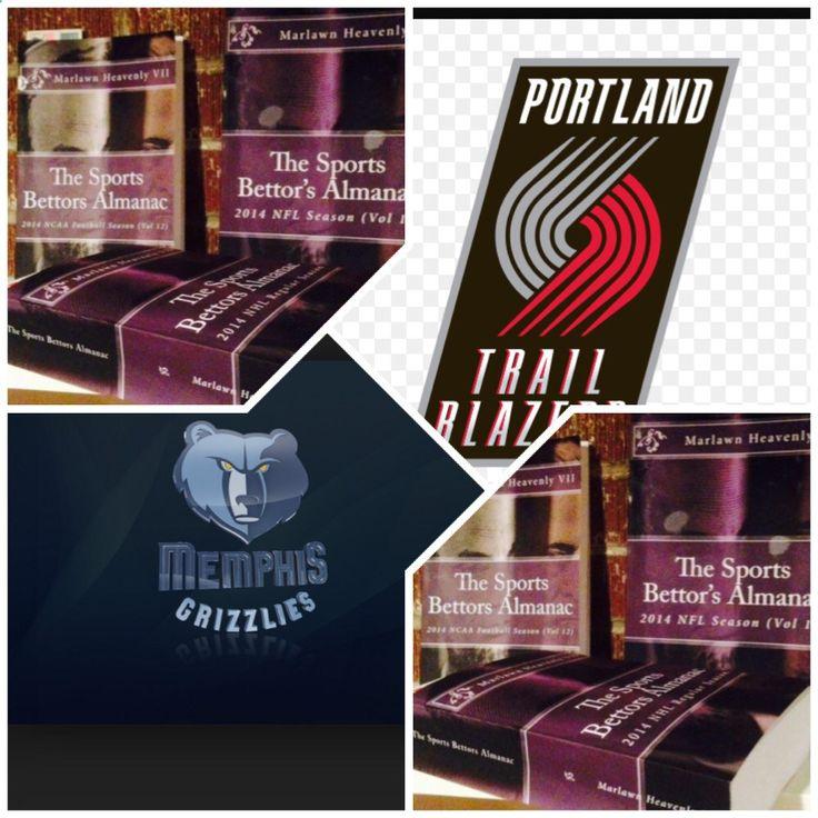 4/22/15 NBA Playoffs: #Portland #Blazers vs #Memphis #Grizzlies (Take; Blazers  6,Under 189) (THIS IS NOT A SPECIAL PICK ) The Sports Bettors Almanac SPORTS BETTING ADVICE On 95% of regular season games ATS including Over/Under 1.) The Sports Bettors Almanac available at www.Amazon.com 2.) Check for updates Marlawn Heavenly VII ( SportyNerd@ymail.com ) #NFL #MLB #NHL #NBA #NCAAB #NCAAF #LasVegas #Football #Basketball #Baseball #Hockey #SBA #Boxing #Business #Entrepreneur #Investing
