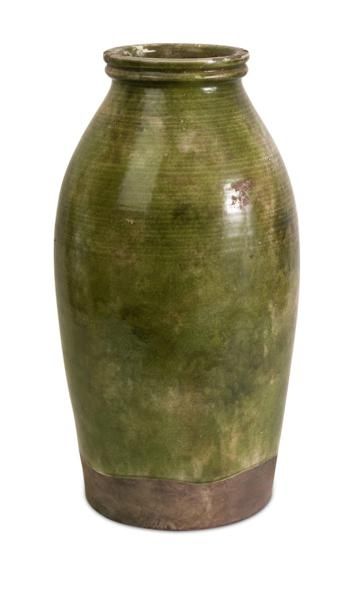"""Vintage Tall Jar - Clay vase that has a vintage, worn, traditional look. Material: 100% Clay. 20""""h x 10.75""""d."""