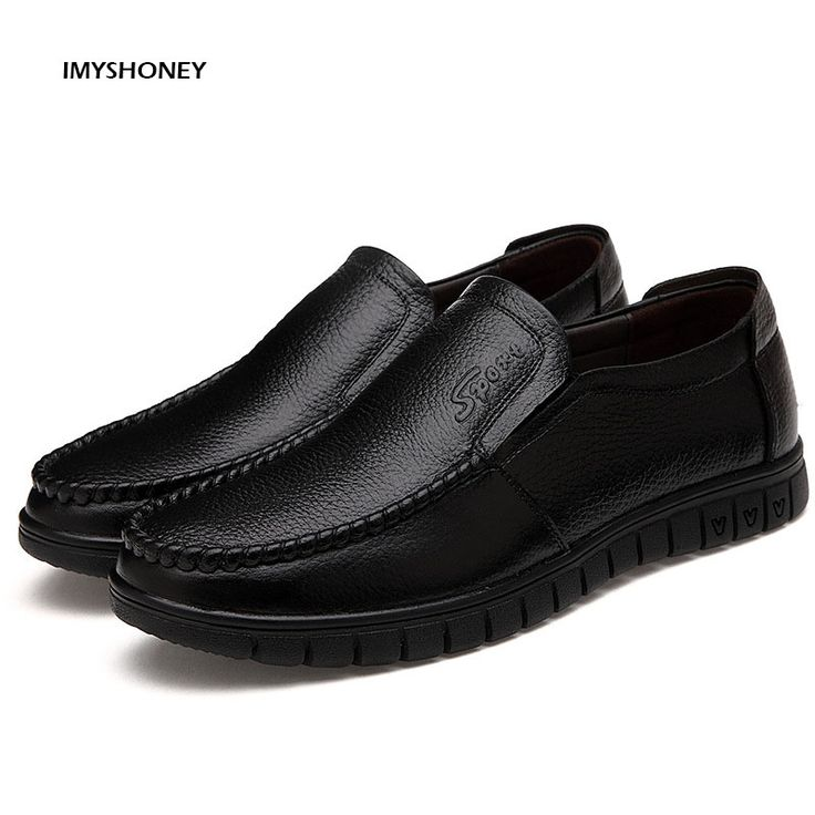 >> Click to Buy << Spring Male Shoes Slip-on  Genuine Leather Shoes  Recreational  Shoes Breathable  Soft Bottom Men's Casual Shoes #Affiliate