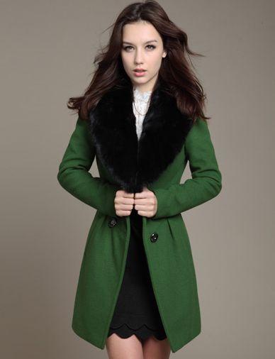 Classic Lapel Collar Woolen in Pure Color For Women-wool coat, trendy woolen, women's woolen, women's fashion