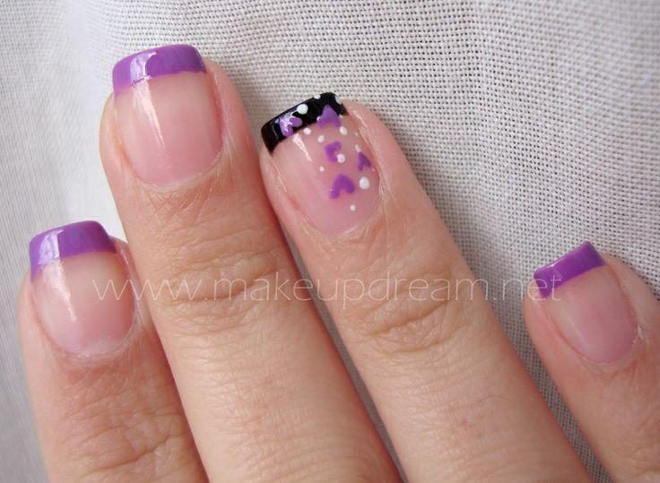 <3<3<3 manicura francesa lila