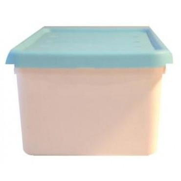 """12 Piece - Accessory Box - Turquoise DETAILS Designed for dolls, cars, crafts and more 4.75 quart/ 4.5 litre capacity Snap-on lid ensures contents are kept securely in place Stackable design to maximize storage space Durable resin construction Dimensions: 7"""" wide x 4.25"""" high x 13"""" deep Weight is 10 lbs for 12 pieces"""