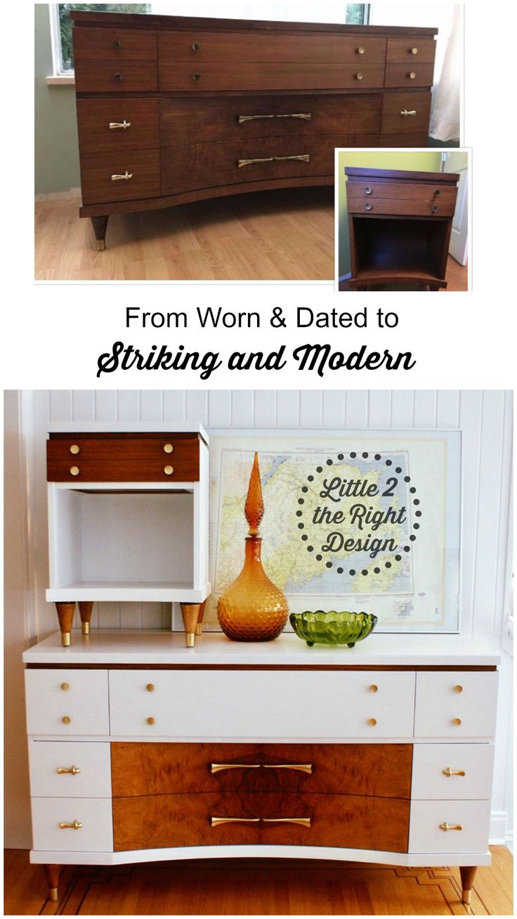 mid century modern furniture restoration. Amazing Transformation Of This Worn And Dated 9 Drawer Mid Century Modern Dresser Nightstand To Furniture Restoration