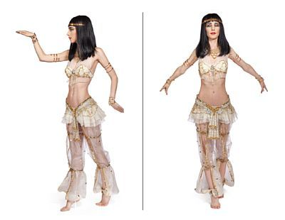 Costume: Cleopatra from Diaghilev Ballet Russes in 1985   Jeanette Hansson / Vibeke Gurholt. Str. 36    Silk, miscellaneous jewelry and ornament.