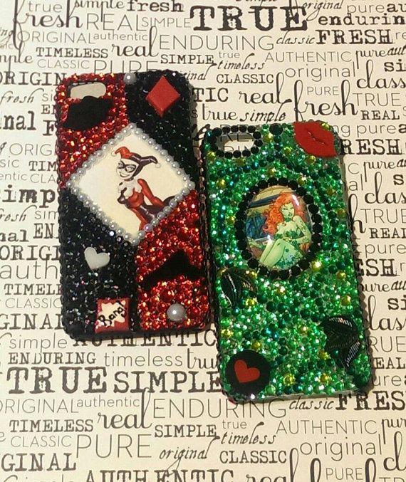 Hey DC fans!!  Batman comic custom phone cases. Harley Quinn Poison Ivy Joker Catwoman Batman  Riddler & more!!  Etsy listing at https://www.etsy.com/listing/206011644/comic-bling-phone-case