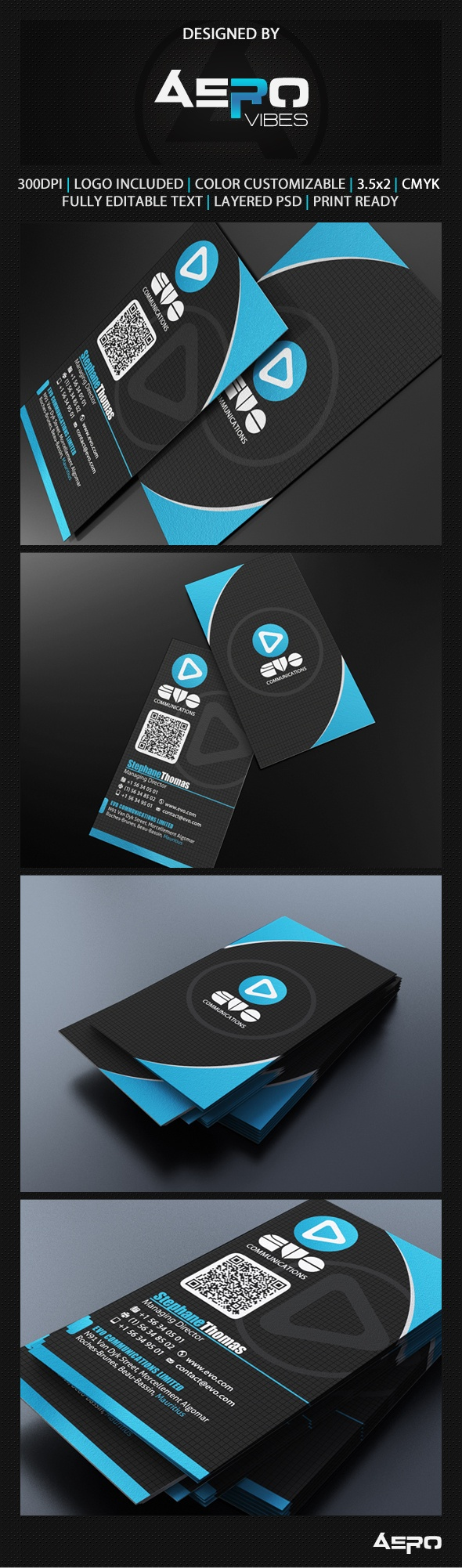 100 Best 100 Creative Blue Business Cards For Your Inspiration