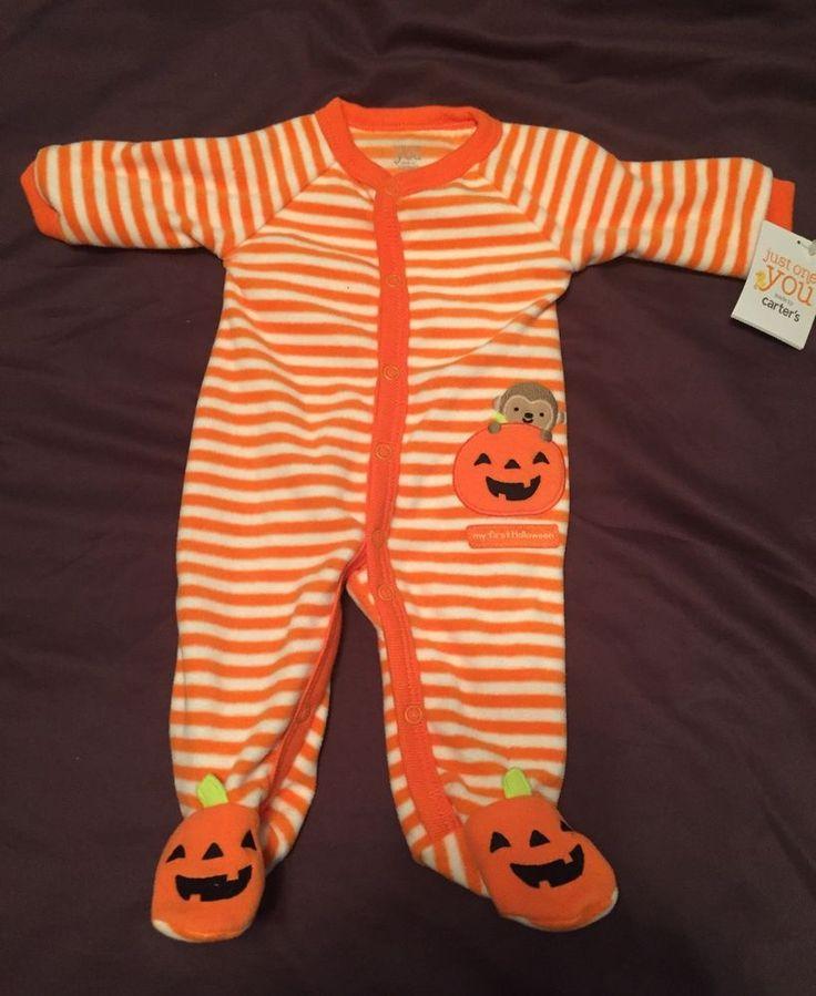 Carter's Halloween Unisex (boy/girl) Newborn Baby Pajamas/Sleeper/Outfit NWT #Carters