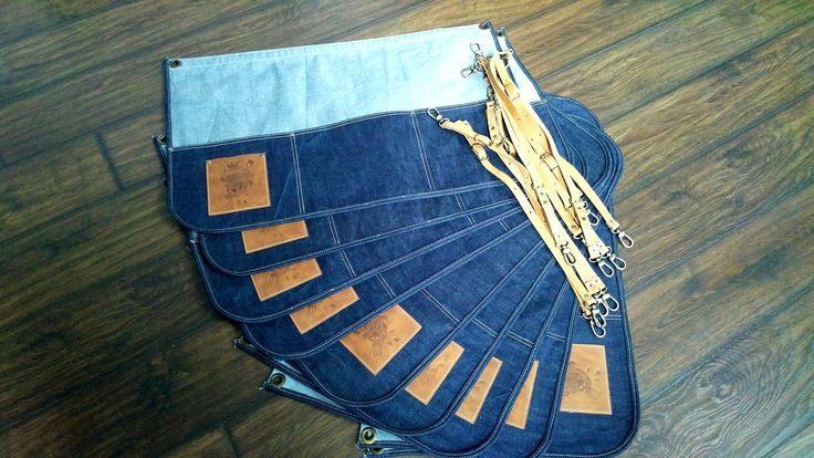 Передник из джинсы для ресторана Honky tonk