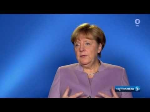 Bundeskanzlerin Angela Merkel, CDU, im Gespräch mit Ingo Zamperoni, ARD ...