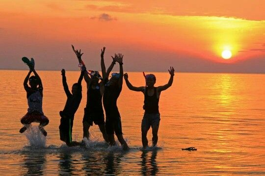 Sunset in Hondue beach - Tomia Wakatobi island