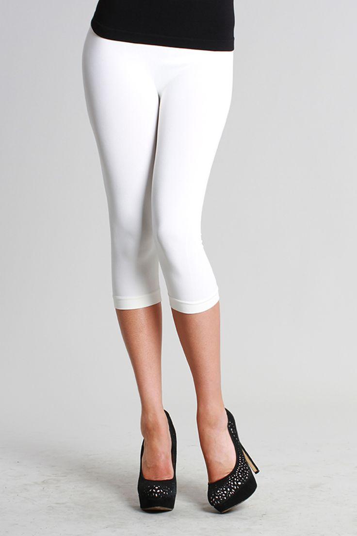 NikiBiki-Capri Leggings-White