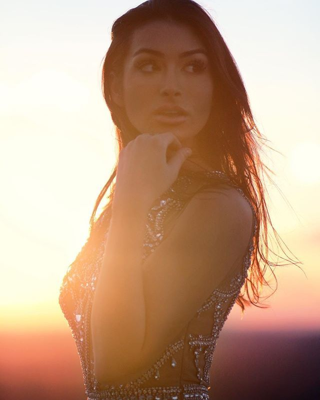 WEBSTA @ ashley_iaconetti - Throwback to the Cinderella dress.  #nofilter #sunset