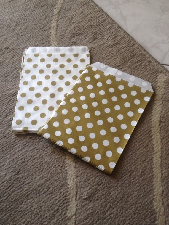 10 sacchettini in carta kraft color bianco e oro di ShockingStore