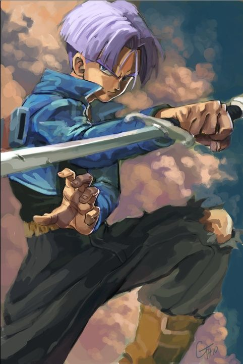 Trunks // artwork by James Ghio (2010)  The son of Vegeta in Dragon Ball Z.