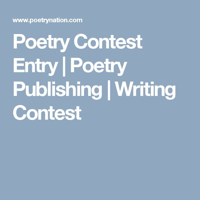 Writing and publishing poems