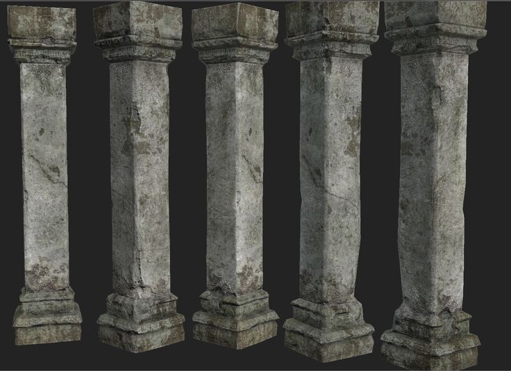 Painted Stone Pillars : Best materials textures images on pinterest unreal