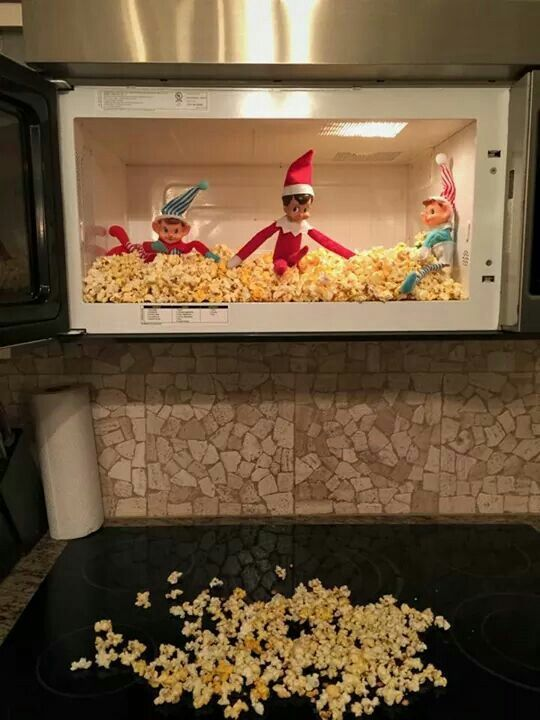 Microwave Popcorn Explosion Awesome Elf On The Shelf