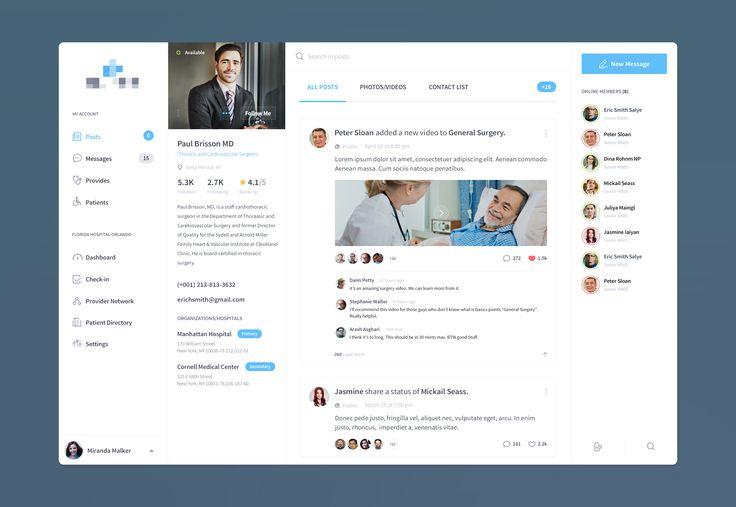 Medical Provider & Patient Management Dashboard UI | Flat User Interface Design