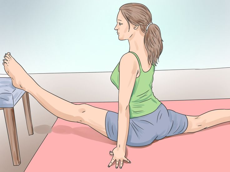 How to Do the Splits in a Week or Less -- via wikiHow.com. For those who already have a substantial amount of flexibility. Yes, I know her positioning is awful but could you just read what the article has to offer and forget about the pictures?