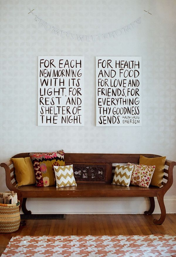 words on canvas (emerson quote)