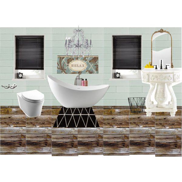 baño estilo eclectico