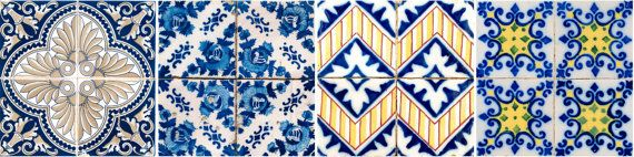 Tiles Stickers Mexican Mixed Tiles of 24 Decal ceramic by AlegriaM