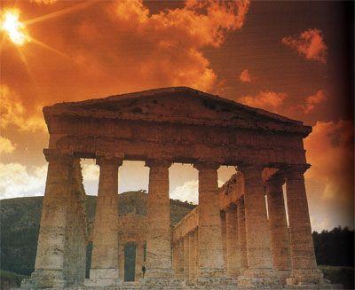 Tempio di Segesta all'alba