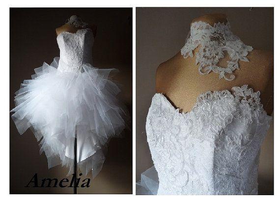 Amelia short wedding dress prom dress Tulle by AtelierArtistia