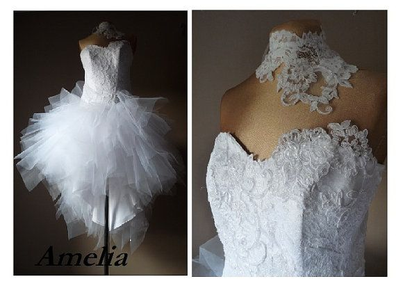 Amelia short wedding dress prom dress Tulle by AtelierArtistia