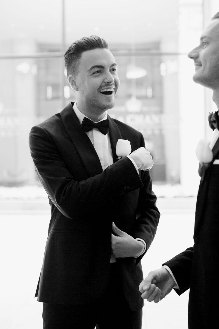 Same-sex wedding, wedding day, wedding, gay wedding, wedding inspiration, city wedding, bride to be, groom to be, groom style, wedding suits, groom inspiration  #wedding #gaywedding #samesexwedding #groom