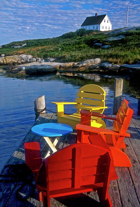 ✮ Dockside At Peggys Cove, Nova Scotia  - Canada