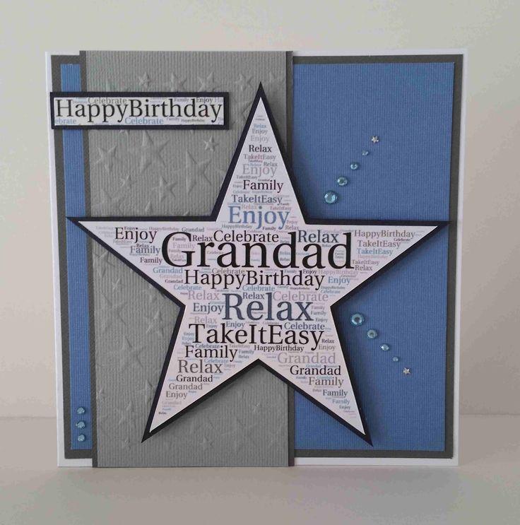 Fine Grandad Tagxedo Word Art Birthday Card Handmade Amp Hand Funny Birthday Cards Online Ioscodamsfinfo