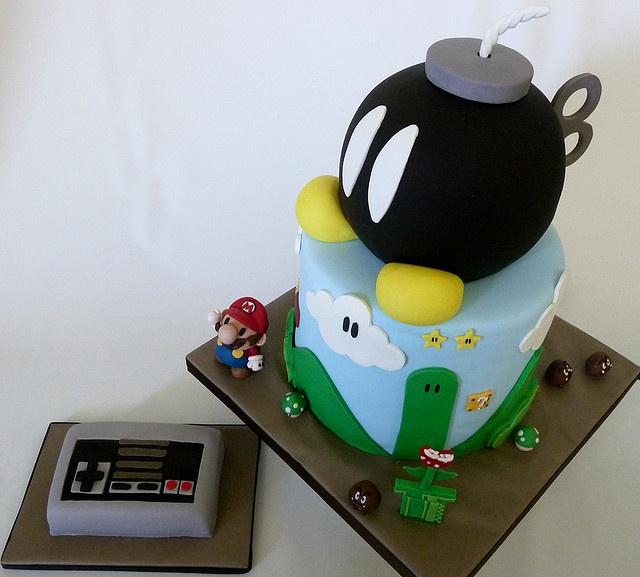 Mario Bros. Bomb cake