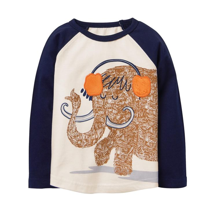 Toddler Boy Ivory Mammoth Tee by Gymboree