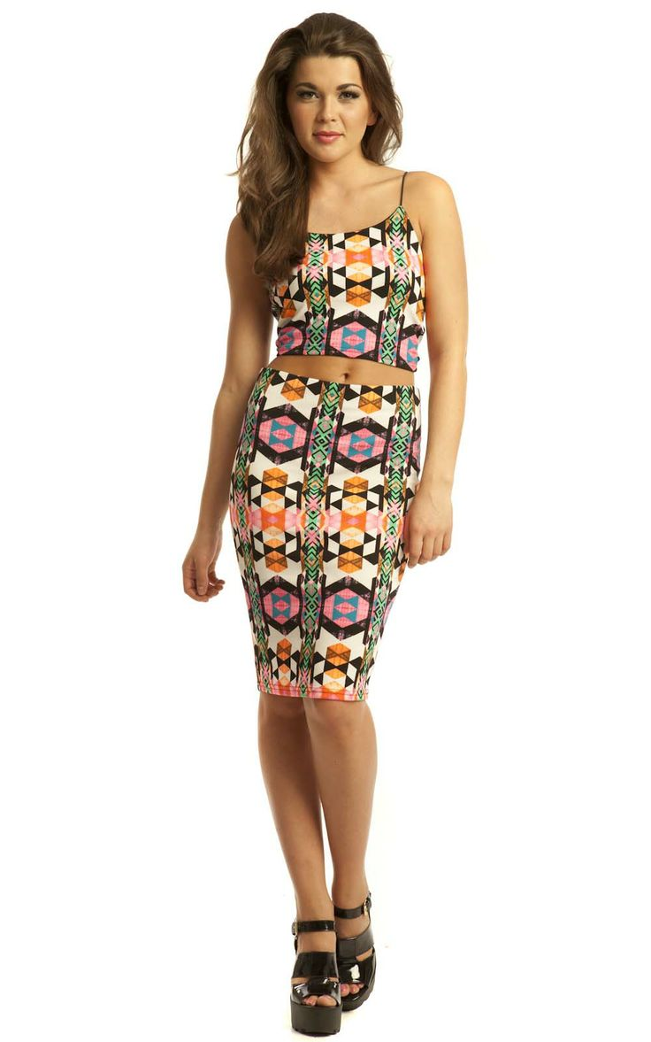After a more sophisticated take on the Co-Ord trend? Look no further than our gorgeous Magda Aztec Two Piece! #fashion #womens #online #ikrush #coord #coordinate #twopiece #twinset #trend