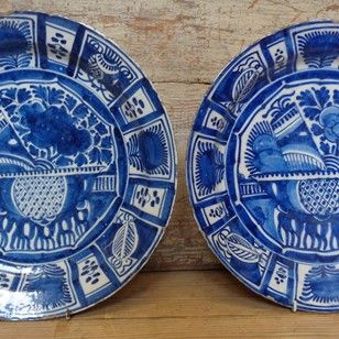 Pair Of Delft Chargers - Decorative Collective