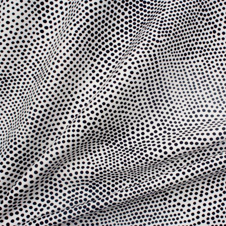 Designer Black & White Spot Luxury Cotton (£43.90/metre) | Joel & Son Fabrics