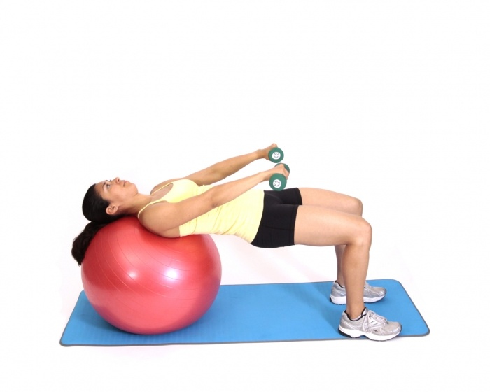 Pullovers with DB on Exercise Ball Exercise
