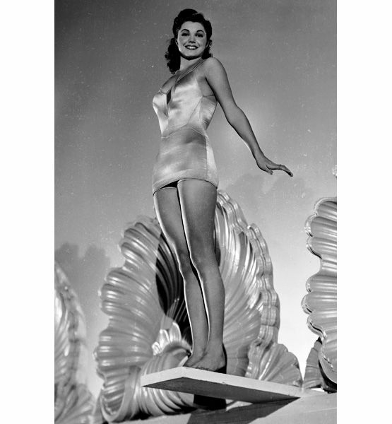 Esther Williams - swan dives and synchronized swimming