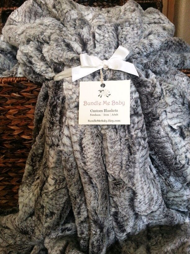 Adult Faux Fur Minky Blanket - Adult Teen Tween EXTRA LARGE Grey Black and White Faux Fur Print Bedding Gray Dorm Room Quilt by BundleMeBaby on Etsy https://www.etsy.com/ca/listing/228426641/adult-faux-fur-minky-blanket-adult-teen