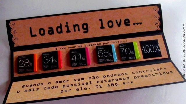 DIY: Loading Love – Versão Dia dos Namorados   Namorada Criativa - Por Chaiene Morais
