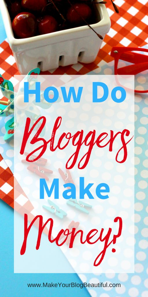 How do bloggers really make money? Did you know that it is possible to make a full time income from blogging? It's true. Find out the different ways that bloggers are making money from their blog. You can do it, too! | Make money blogging | Start a blog |