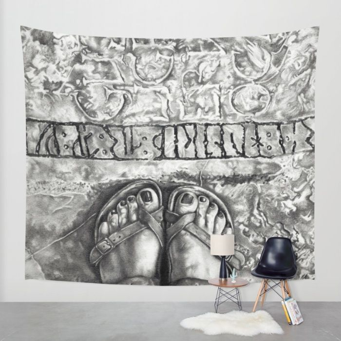 Art Beneath Our Feet Project - Gotland Wall Tapestry by Lucyschmidtart | Society6