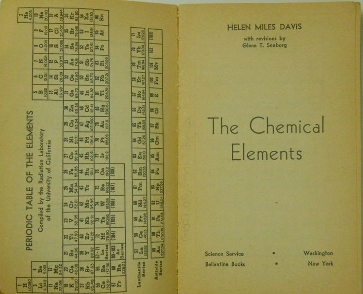 48 best periodic table images on pinterest periodic table the chemical elements 1959 by helen miles davis periodictable chemicalelements urtaz Image collections