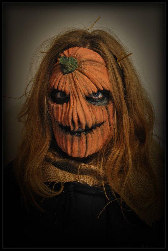 Pro Horror Fx Prosthetic Pumpkin Latex Mask By Deadwalkdesigns 163 14 99 Halloween Pinterest