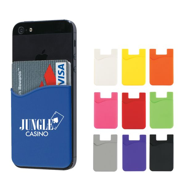 Silicone Card Sleeve  | iPhone | accessories | case | credit cards | wallet | imprint | brand | logo | giveaways | promo products | tradeshow ideas | promotional giveaway |